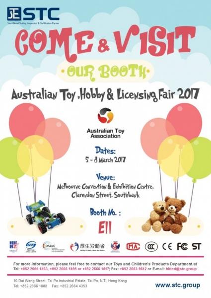 Invitation to Australian Toy, Hobby & Licensing Fair 2017