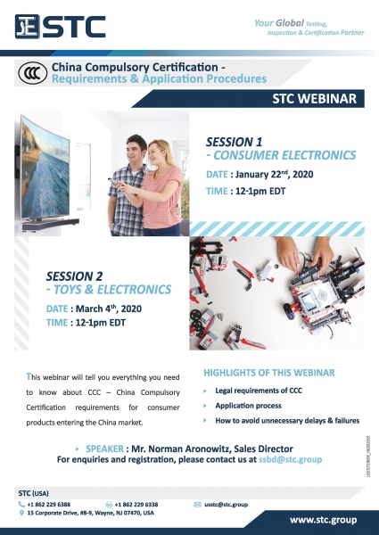 STC Webinar - CCC Requirements and Application Procedures