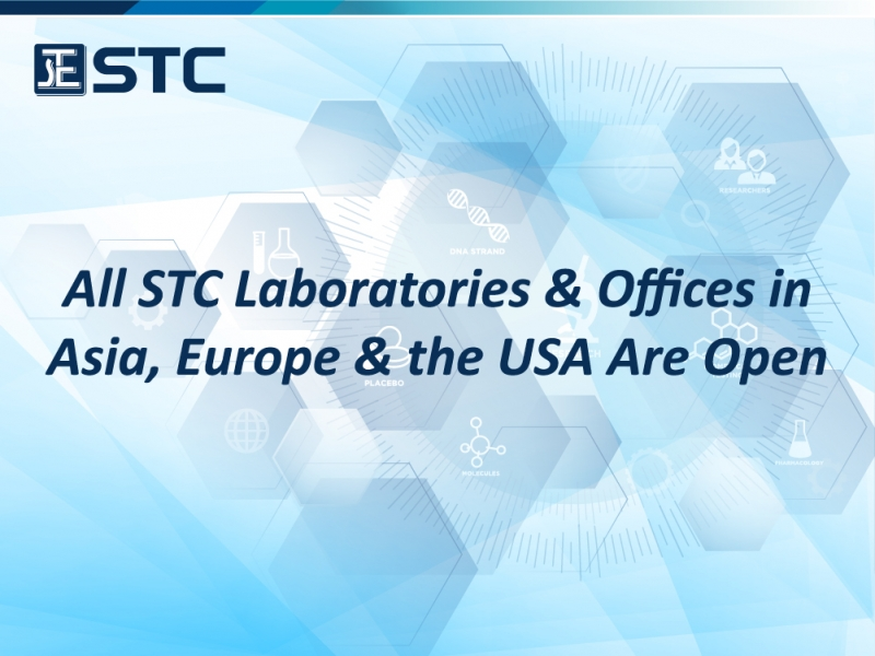 All STC Laboratories & Offices in Asia, Europe & the USA Are Open