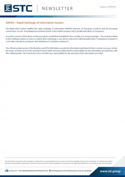 STC, Recall Summary – Toys in Europe, the US, Australia (Feb 2021),